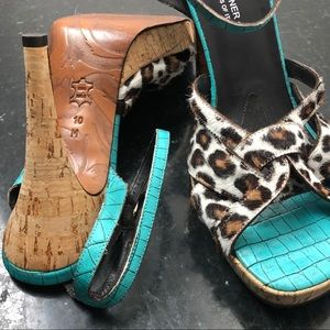 Donald J Pliner Couture Leopard Leather Stilettos